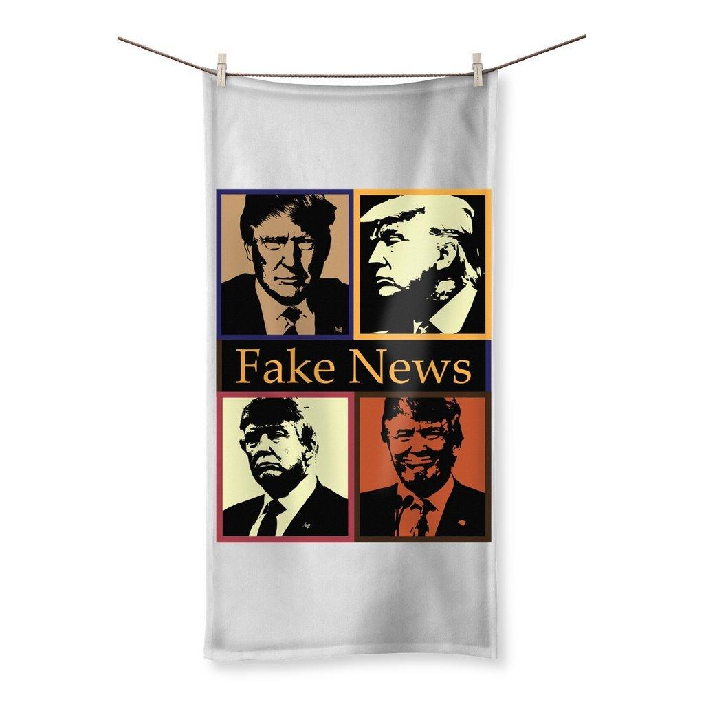 4 Portraits Beach Towel Fake News
