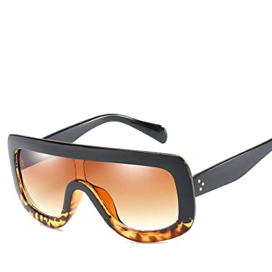 Amazon.com: Gafas de sol siamesas con marco de color negro ...