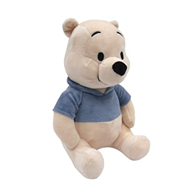 Lambs & Ivy Disney Baby Forever Pooh Bear Plush, Beige/Blue: Baby