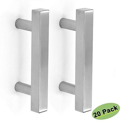 Amazon.com: Homdiy HDJ22SN - Pomos cuadrados de níquel ...