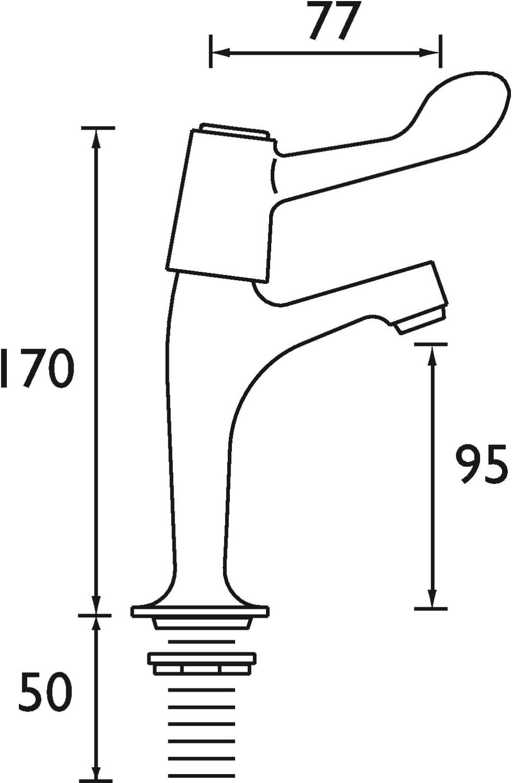 VAL HNK C 6 CD Bristan VAL HNK C 6/CD /à levier Robinets piliers /à bec haut Chrom/é avec leviers de 15,2/cm et valves /à disque en c/éramique Parent