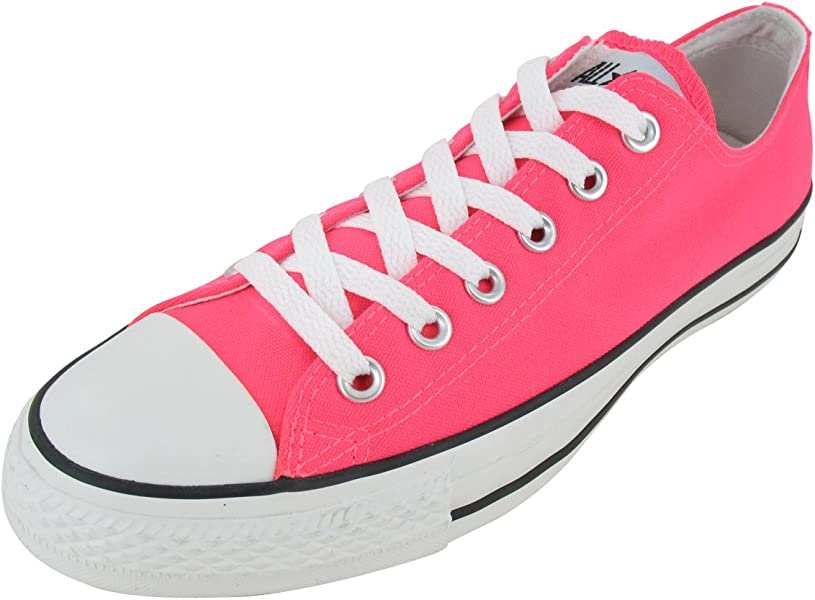 neon pink high top converse size womens 7 mens 5