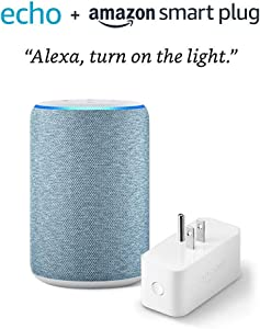Echo (3rd Gen) bundle with Amazon Smart Plug - Twilight Blue