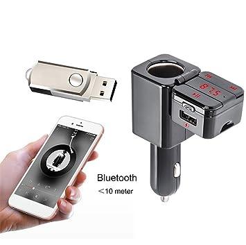 Coche Transmisor FM Bluetooth USB Cargador Radio Adaptador ...