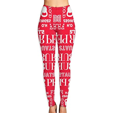 4b9741ffacb46 Amazon.com: Women's Soft Lightweight I Love Burpees Red Printed Leggings  High Waist Yoga Pants Training Leggings: Clothing