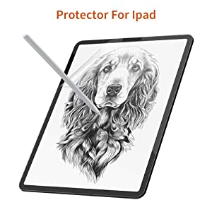Paper-Like Screen Protector for iPad Pro 11Inch, XIRON Paper Texture Film, Special for Writing, Drawing and Sketching with The Apple Pencil, High Touch Sensitivity (iPad 11 inch Screen Protector) (Color: iPad 11 inch screen protector, Tamaño: iPad 11 inch)