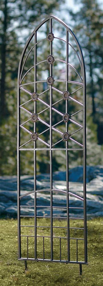 H Potter Garden Trellis for Climbing Plants Wrought Iron Metal for Vine Rose Flower 309