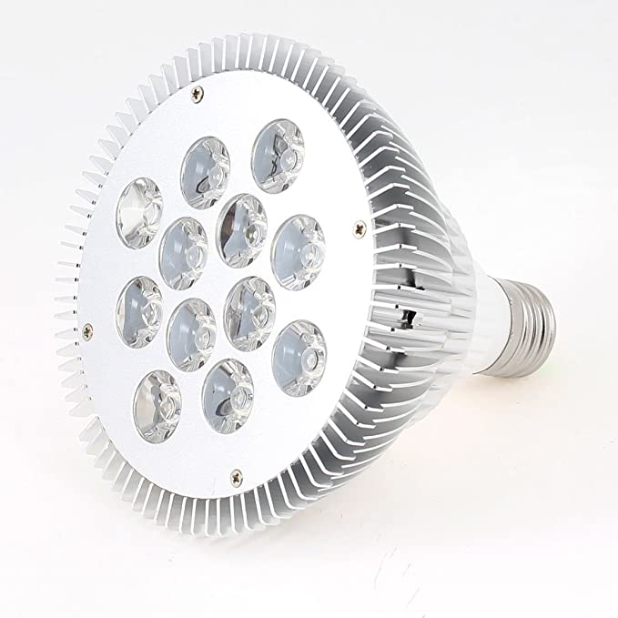 110V 24W regulable PAR38 de lámpara del proyector LED E27 blanco ...