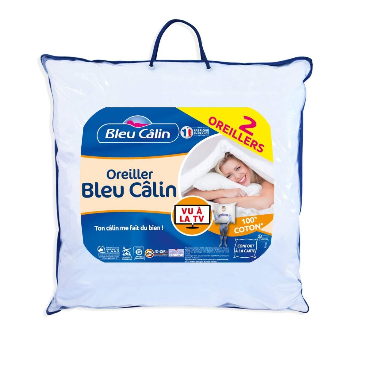 Bleu C/âlin Lot de 2 Oreillers Blanc OBCI550600 LOT2 60x60 cm
