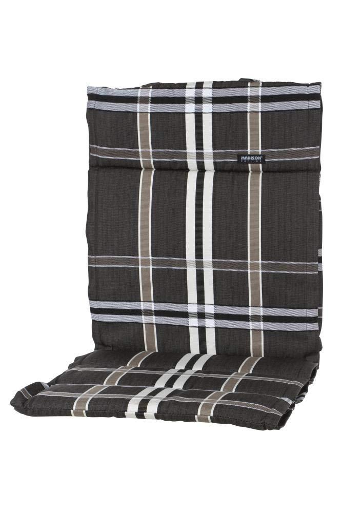 Madison 6 Stück Dessin Nils Sitzpolster, Sitzauflage für Stapelsessel niedrig, Niedriglehner 100% Polyester, 100 x 50 x 4 cm, in taupe