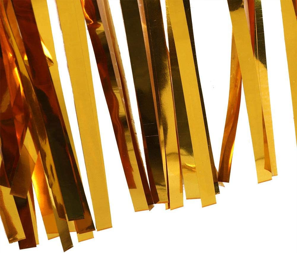 Gold Metallfolie Fransen Tisch Rock 29 x 109 Zoll Silber Lametta Tisch R/öcke f/ür Rechteck Runde Tische
