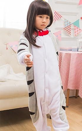 MissFox Kigurumi Pijamas Unisexo Niños Traje Disfraz Niños Animal Pyjamas Gato: Amazon.es: Ropa y accesorios