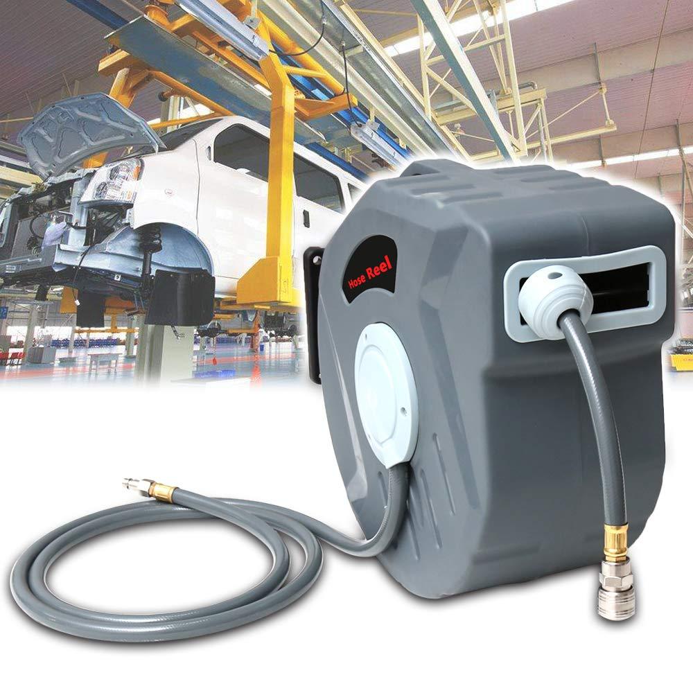 20 m. Hengda 1//4 Enrollador autom/ático de Manguera de Aire comprimido