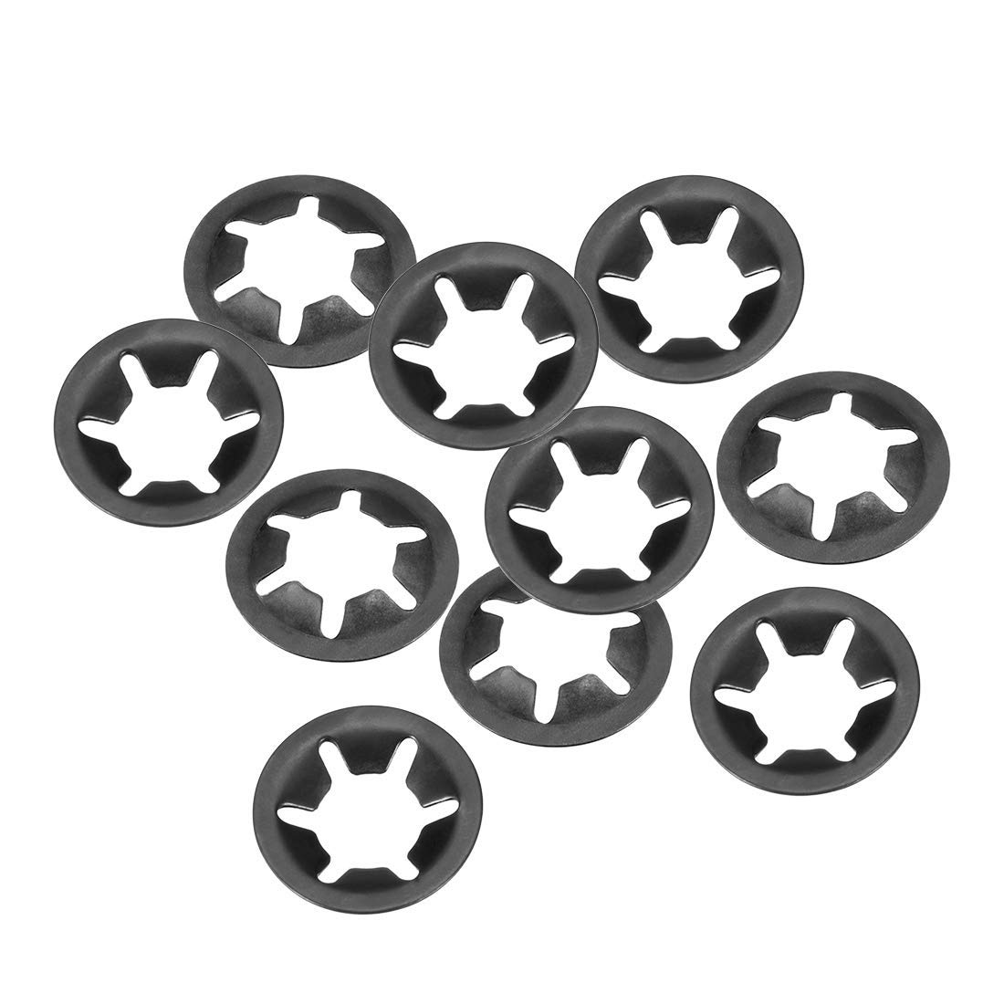 M12 Internal Tooth starlock Washer 10 Pieces 12 mm Internal Diameter 25 mm External Diameter Pressure Washer Lock washers Clip Holder