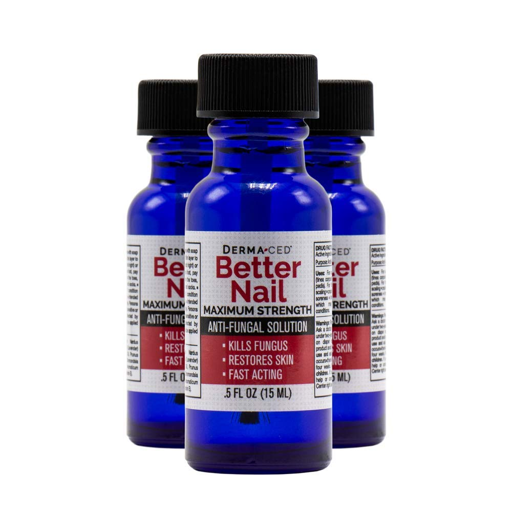 Better Nail - Maximum Strength 25% Solution for Anti Fungal Nail Support | Nail Solution for Toenail & Fingernail Fungus | .5oz or 15ml - 3Pack by Better Nail