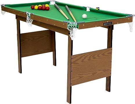 Charles Bentley Mesa DE Billar Verde DE 1,2 M con Bolas DE Billar Y Snooker Amarillas-Interiores: Amazon.es: Deportes y aire libre