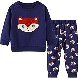 HILEELANG Toddler Boy Sweatpants Kids Sport Jogger Cotton Casual Active Playwear Sweats Pants 2-Pack