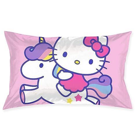 Amazon.com: Fundas de almohada con diseño de Hello Kitty con ...