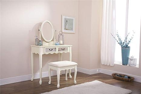 Generic sgabello ivoryesser cassetto cassetto specchio da toeletta