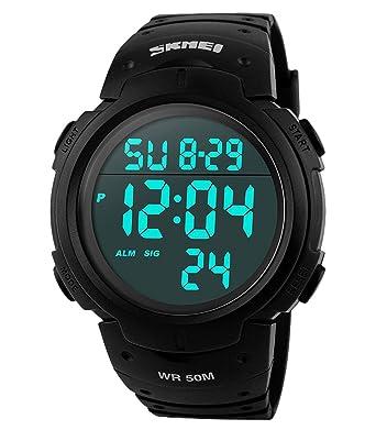 Mode Digitale Schwimmen Uhren Wasserdicht Männer Jungen Lcd Digitale Stoppuhr Datum Gummi Sport Armbanduhr Elektronische Uhr ZuverläSsige Leistung Herrenuhren