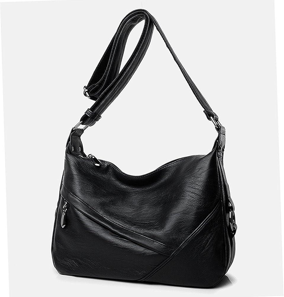 Amazon.com  Molodo Accent Retro Sling Leather Corssbody Bag For Women  Medium Shoulder Purse Hobo Handbag Black  Shoes 1becece6a6b52