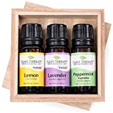 Best Piping Rock Health Products Aura Cacia Lemon Essential Oils - Lemon, Lavender and Peppermint Set. 100% Pure, Undiluted Review