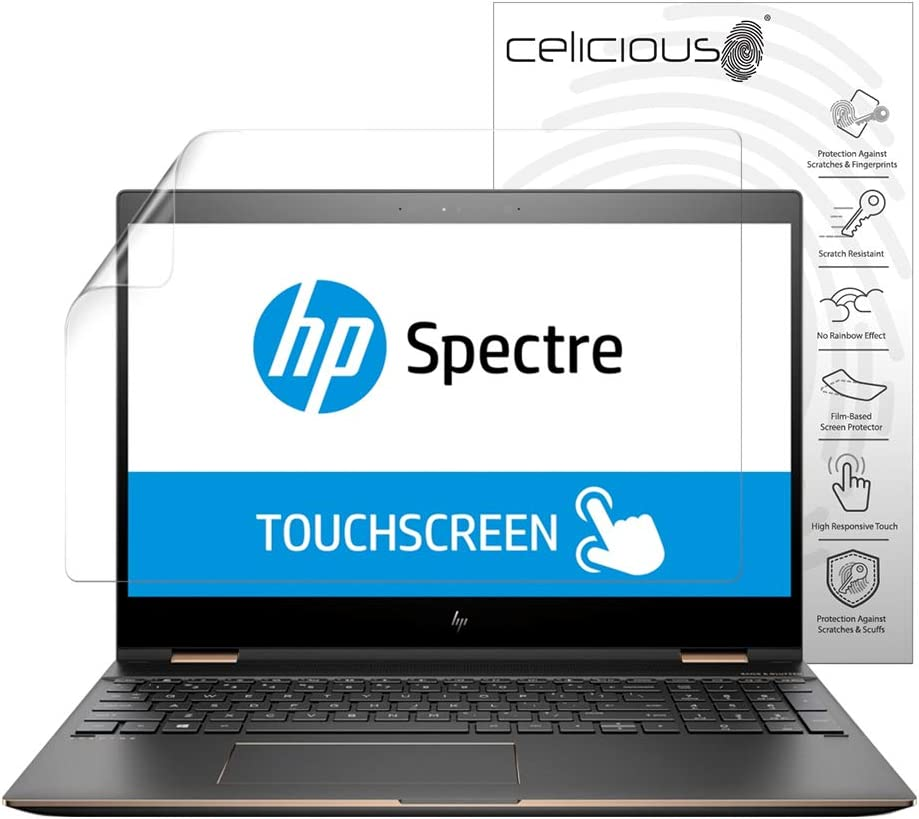 Celicious Vivid Plus Mild Anti-Glare Screen Protector Film Compatible with HP Spectre x360 15 EB0000 Pack of 2
