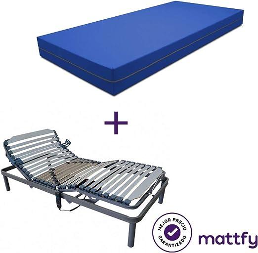 Mattfy Pack Cama articulada Reforzada 5 Planos + colchón viscoelástico Sanitario Valentina (90x190). Fabricado en España: Amazon.es: Juguetes y juegos