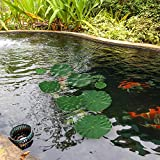 Auihiay 8 Pieces 4 Kinds Artificial Floating Plants
