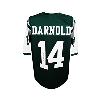 hot sale online 70f01 18b3e Sam Darnold Autographed New York Jets Custom Green Football ...