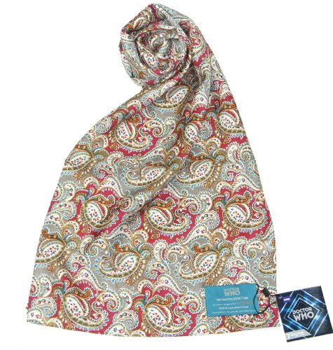 Seventh Doctor (Sylvester McCoy) Scarf - BBC Doctor Who 7th Doctor Silk Scarf ()