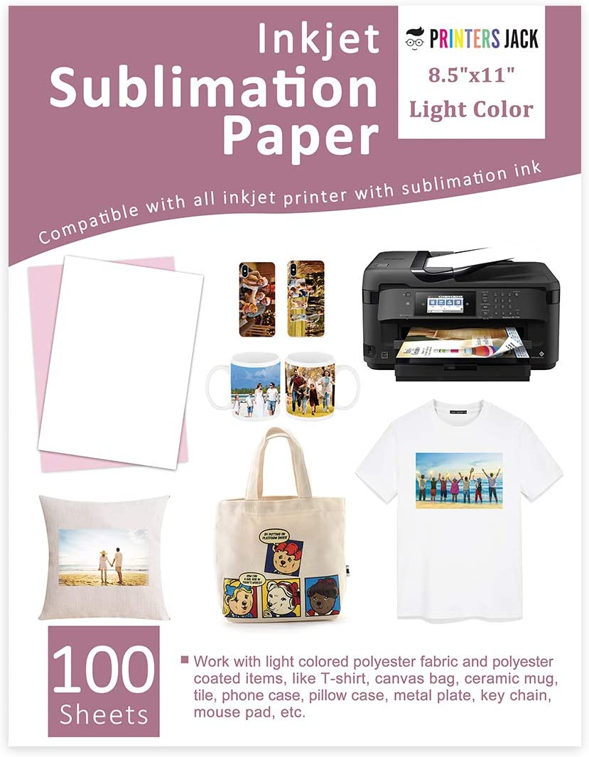 Sublimation Paper Heat Transfer Paper 100 Sheets 8.5