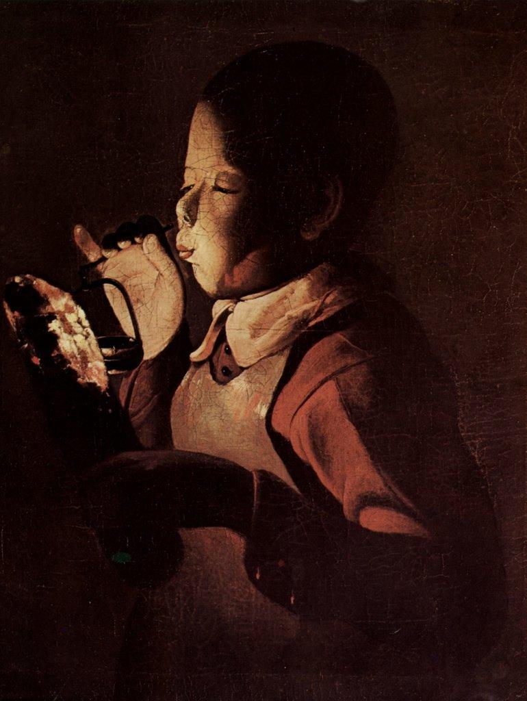 Lais Puzzle Georges de La La La Tour - Knabe bläst in eine Lampe 2000 Teile 9de17f