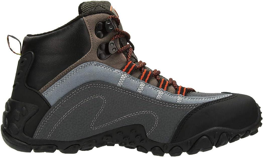 Color : Gray, Tama/ño : 38 FGSJEJ Zapatos de Senderismo para Hombres Zapatos de Viaje al Aire Libre de Cuero Antideslizante Transpirable Zapatos Ocasionales