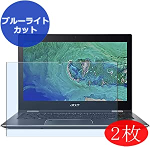 """【2 Pack】 Synvy Anti Blue Light Screen Protector for Acer Spin 5 SP513-53N 13.3"""" Screen Film Protective Protectors [Not Tempered Glass]"""