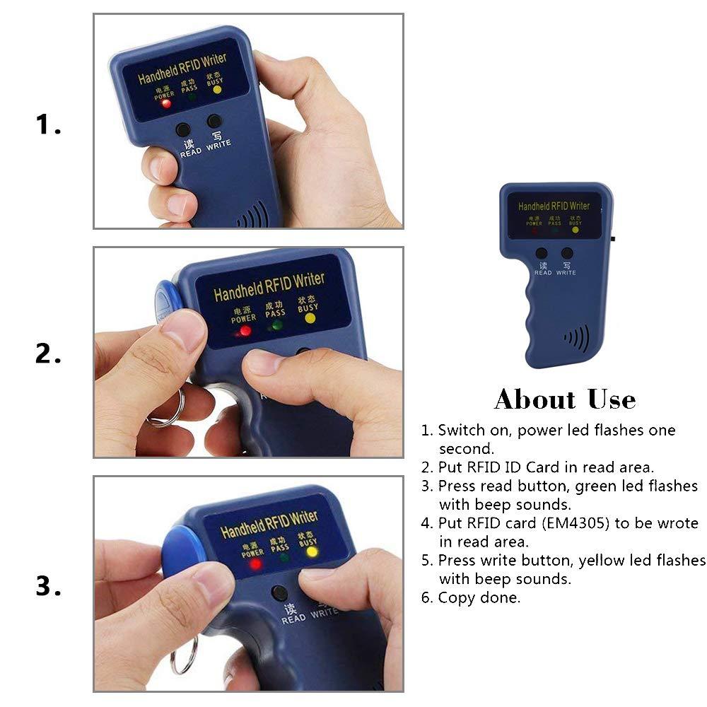 2 Pulseras T5577 RFID 4 Tarjetas T5577 RFID Duplicador de Tarjetas RFID de 125 khz para Control de Acceso a Puertas 8 Etiquetas T5577 para Llavero