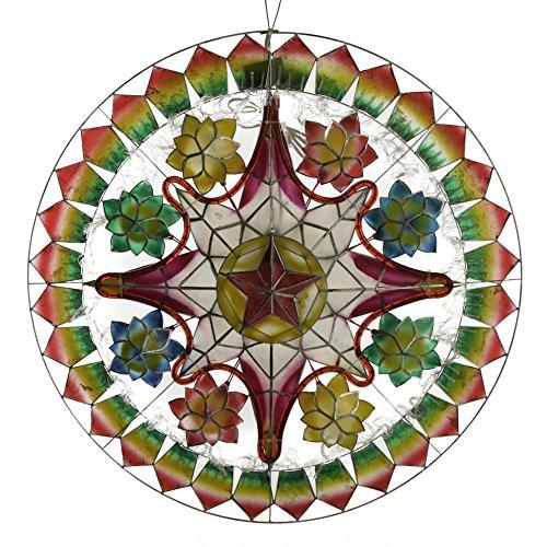 Gift Ko Handmade Tala Poinsettia w/Rope Parol Christmas Lantern 29 Colored