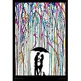 Buyartforless IF CN ST5660 36x24 1.25 Black Framed Two Step - Couple Dancing Under Umbrella by Marc Allante 36X24 Art Print Poster