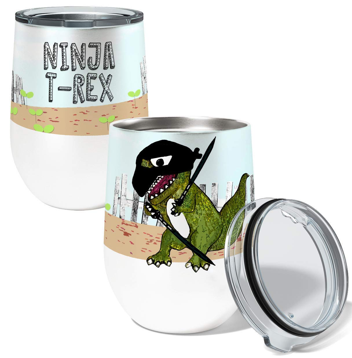 Amazon.com: Ninja T Rex Single 12 Ounce Stemless Insulated ...