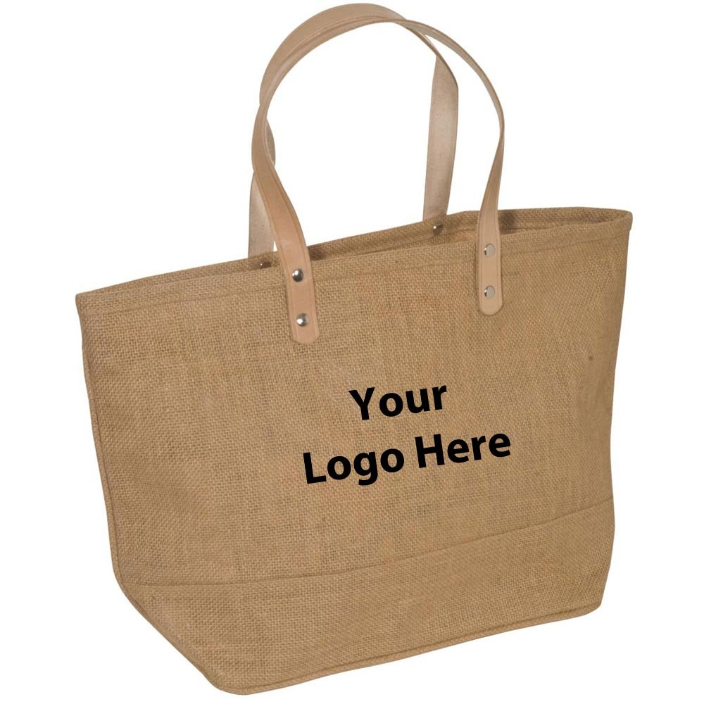Hamptons Jute Tote - 25 Quantity - $8.69 Each - PROMOTIONAL PRODUCT / BULK / BRANDED with YOUR LOGO / CUSTOMIZED