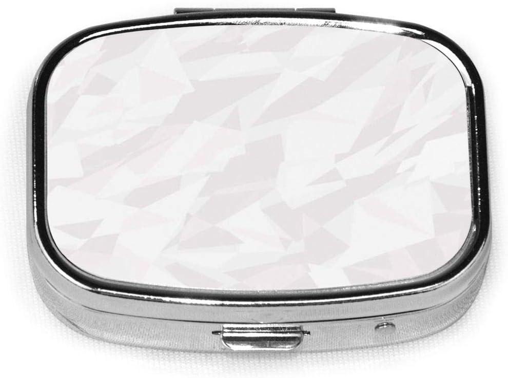 ICY Natural Ed S, caja de pastillas cuadrada plateada de moda personalizada, soporte para tableta de medicina, estuche organizador de cartera para bolsillo o bolso