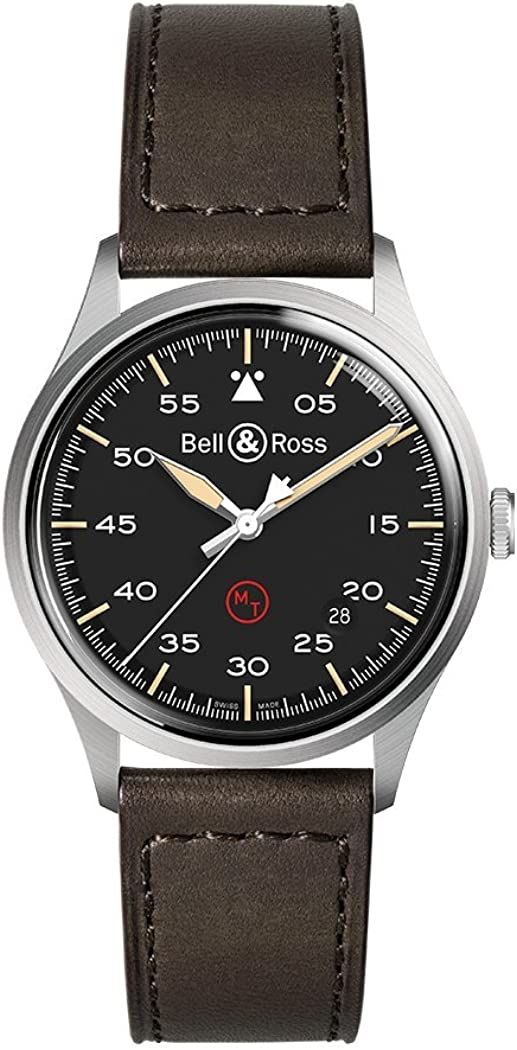 Bell and Ross Vintage Military Automatic Black Dial Mens Watch BRV192-MIL-ST/SCA