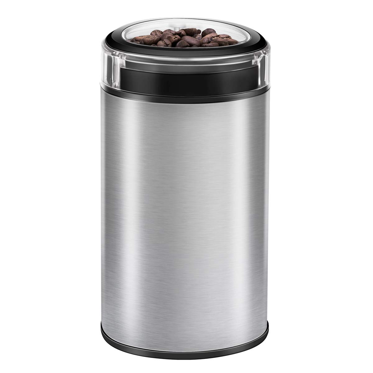 Electric coffee grinder, CUSIBOX Coffee Mill Grinders Fast Fine Home Bean Grinder 12 Cup 150W for Coffee Beans, Nuts, Grains, Spices (White)