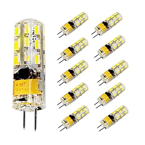 Pocketman Paquete de 10 2 Watt AC/DC 12V G4 Bombillas LED Equivalente a la