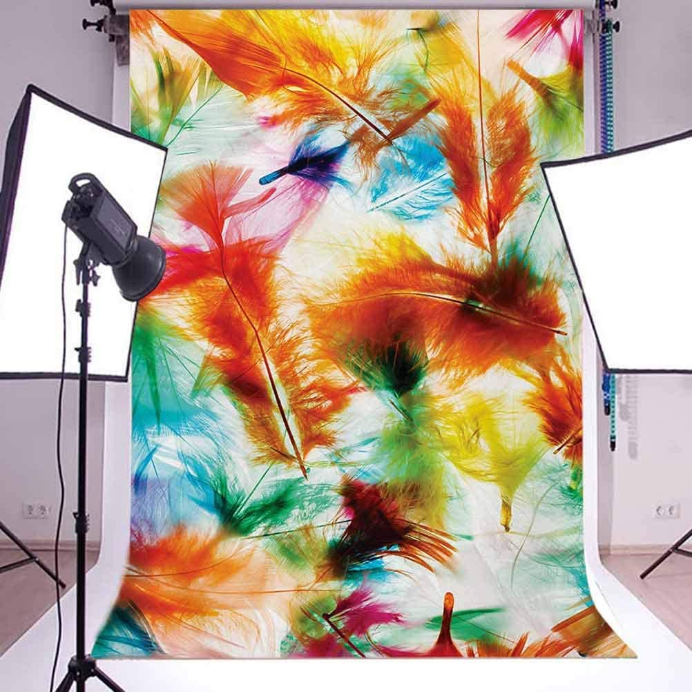 Colorful 10x12 FT Photo Backdrops,Psychedelic Blurry Mix of Feathers Pure Energy of Love and Life Wing Art Icons Background for Photography Kids Adult Photo Booth Video Shoot Vinyl Studio Props