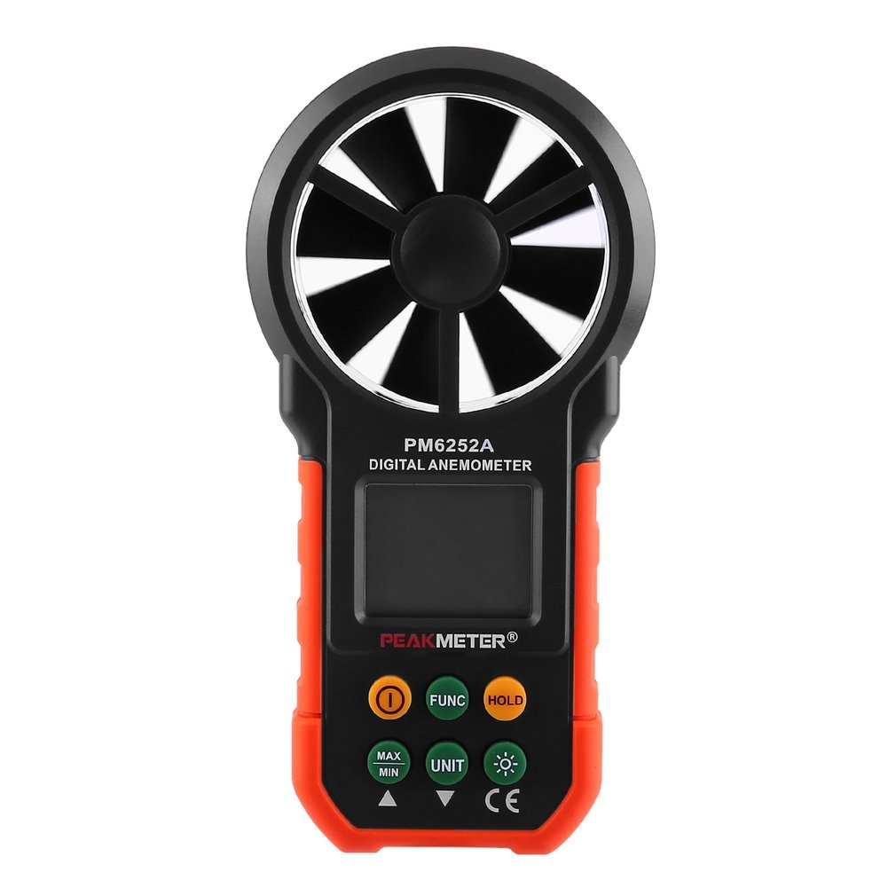 Qulable LCD Digital Anemometer Wind Speed Meter Air Flow Tester Backlight HYELEC