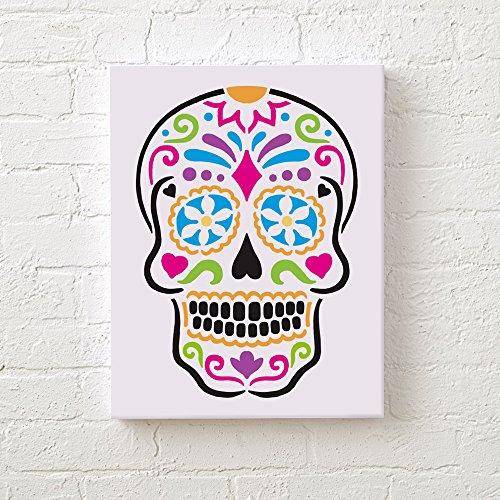 Sugar Skull Wall Art Stencil - Trendy Stencils for DIY Home Decor - By Cutting Edge Stencils … (Sugar Skull Halloween Diy)