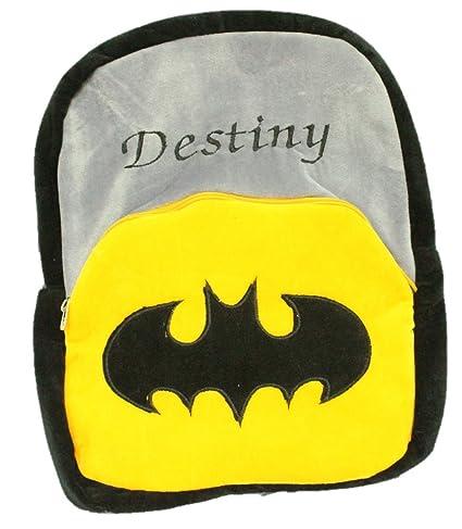 Kabir Kirtika Toys Batman Soft School Yellow Grey Bag For Kids Travelling