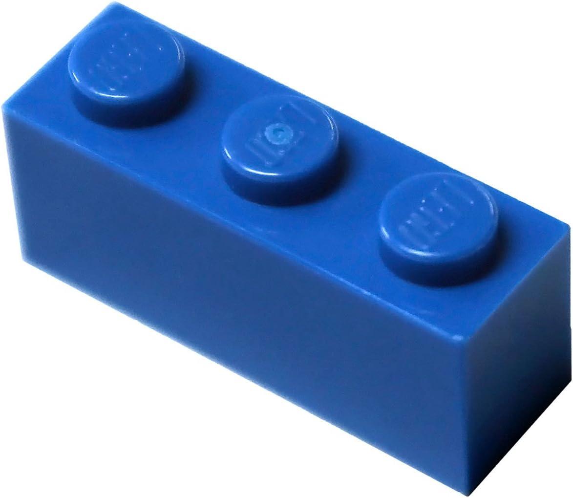 LEGO Parts and Pieces: Blue (Bright Blue) 1x3 Brick x50