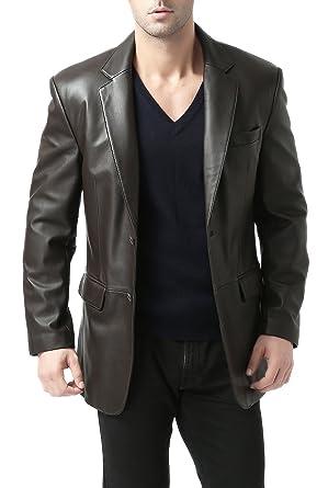 Mens Leather Sport Coat